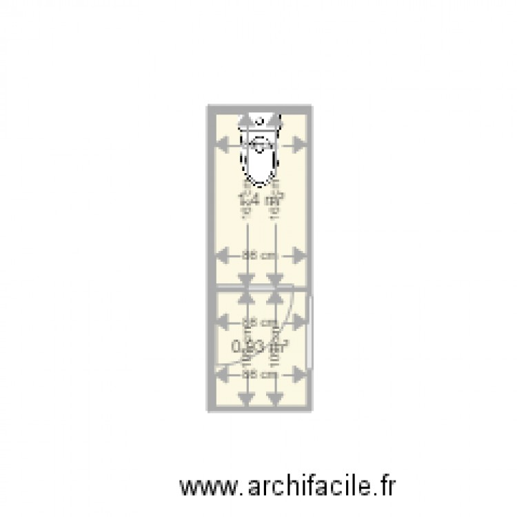 toilette plan 2 pi ces 2 m2 dessin par raphael z. Black Bedroom Furniture Sets. Home Design Ideas