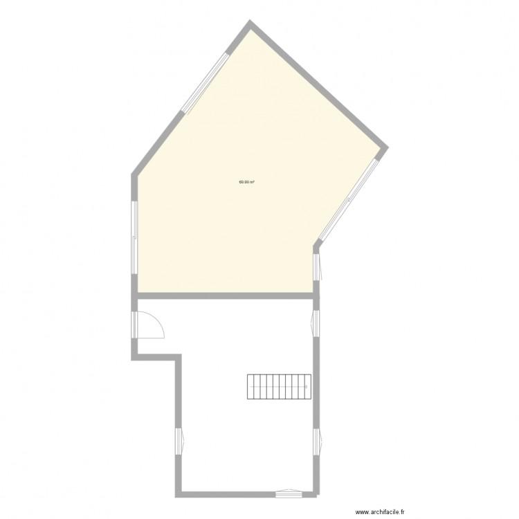 Maison esco plan 1 pi ce 70 m2 dessin par maison esco for Plan petite maison 70 m2