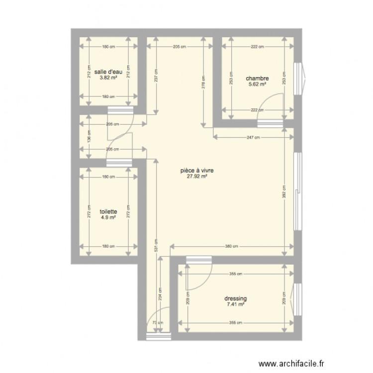 plan appart chambon plan 5 pi ces 50 m2 dessin par saaannndddy. Black Bedroom Furniture Sets. Home Design Ideas