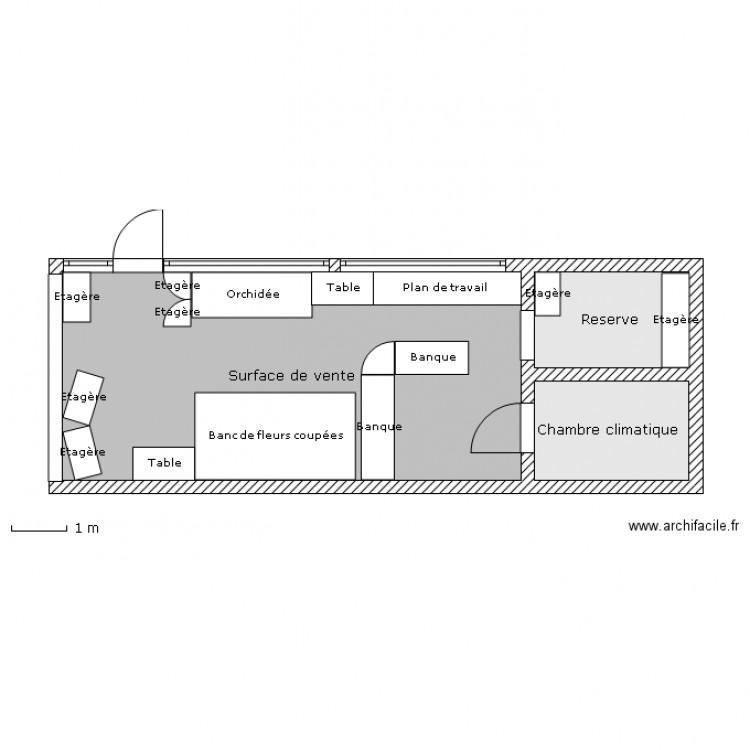 plan du magasin plan 3 pi ces 41 m2 dessin par talulla. Black Bedroom Furniture Sets. Home Design Ideas