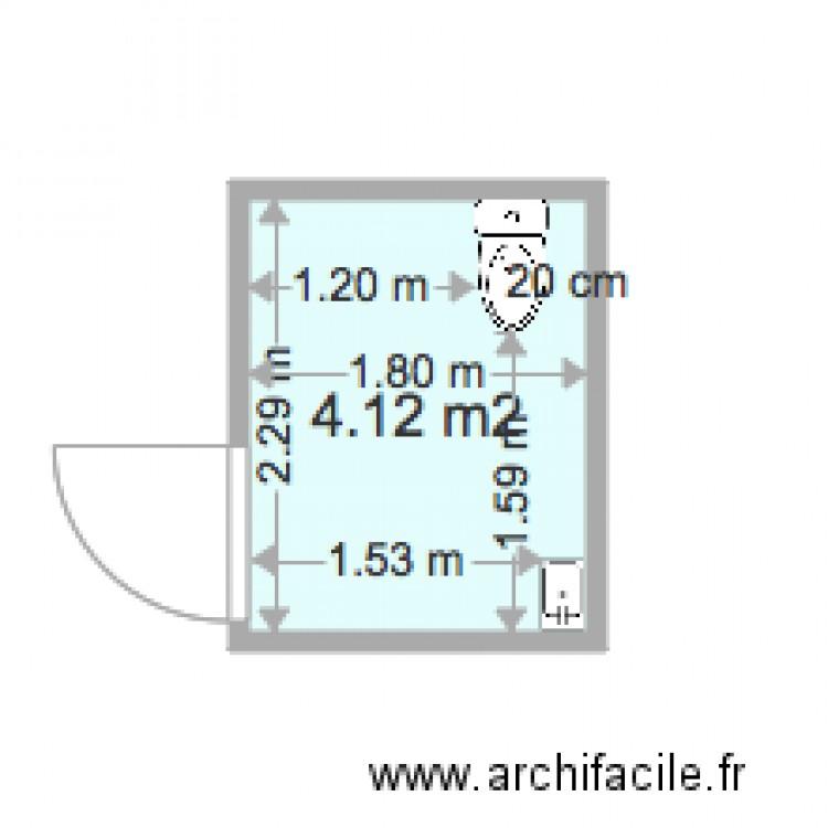 toilette handicap s modif 2 plan 1 pi ce 4 m2 dessin par fredcarole. Black Bedroom Furniture Sets. Home Design Ideas