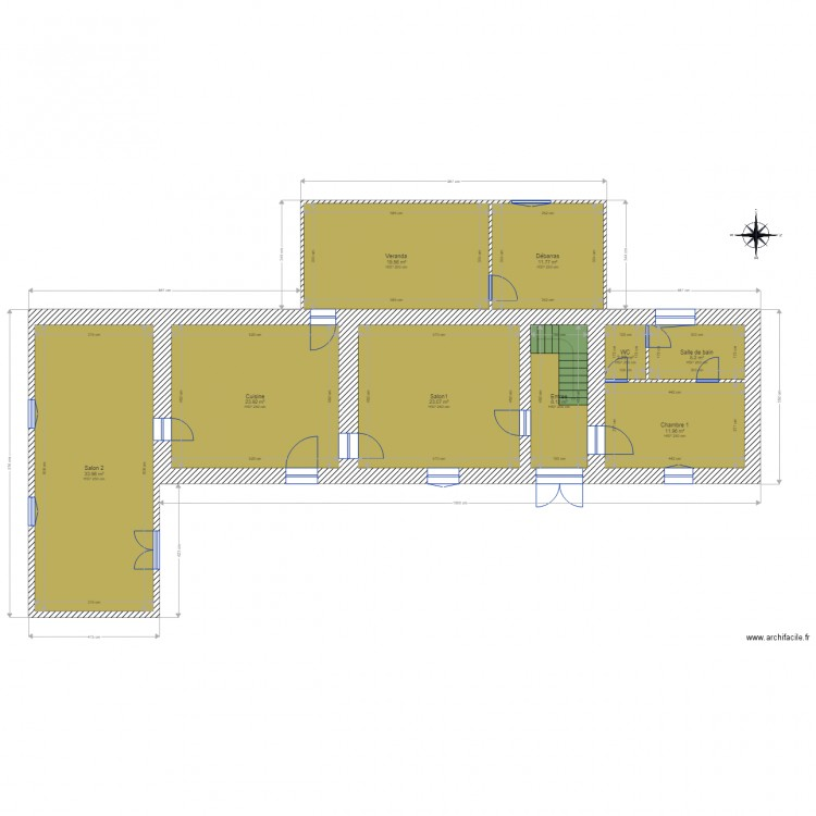 Maison capvern rdc plan 9 pi ces 140 m2 dessin par remy65 - Consommation electrique moyenne maison 140 m2 ...