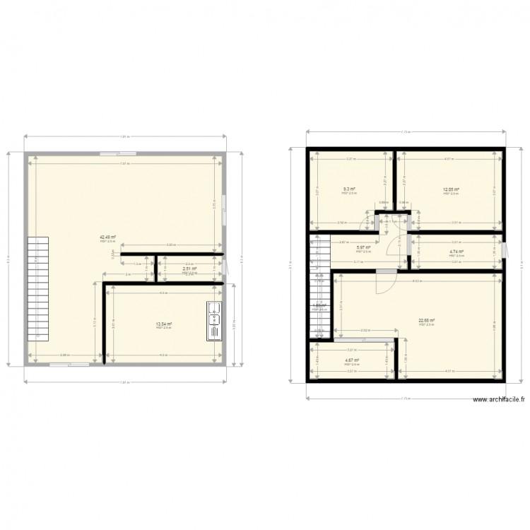 Ma maison2 plan 10 pi ces 120 m2 dessin par mgpetrova - Plan appartement 120 m2 ...