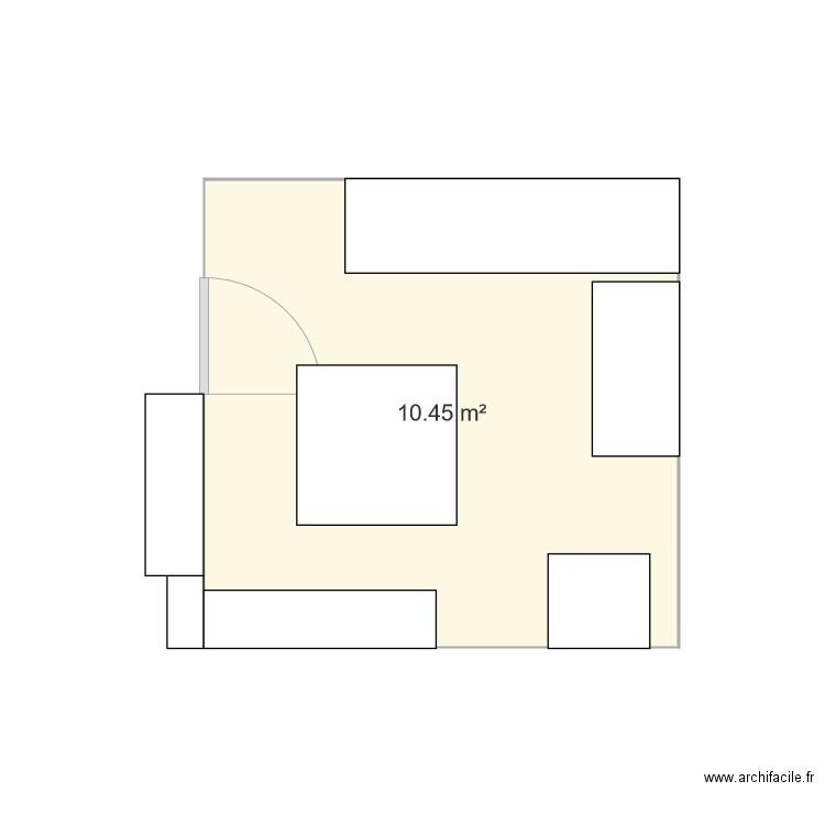 appart plan 1 pi ce 10 m2 dessin par pj56. Black Bedroom Furniture Sets. Home Design Ideas