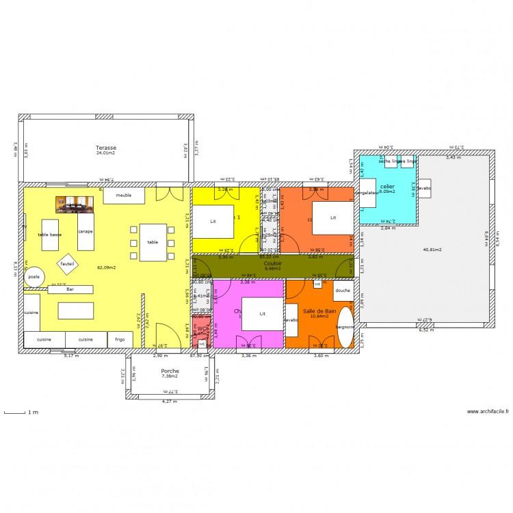 Ma maison 4 plan 14 pi ces 201 m2 dessin par jtri for Dessine ma maison gratuitement