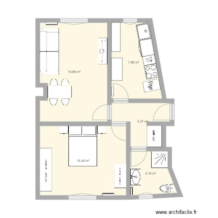 Appart vincennes avec meubles plan 5 pi ces 47 m2 for Location meuble vincennes