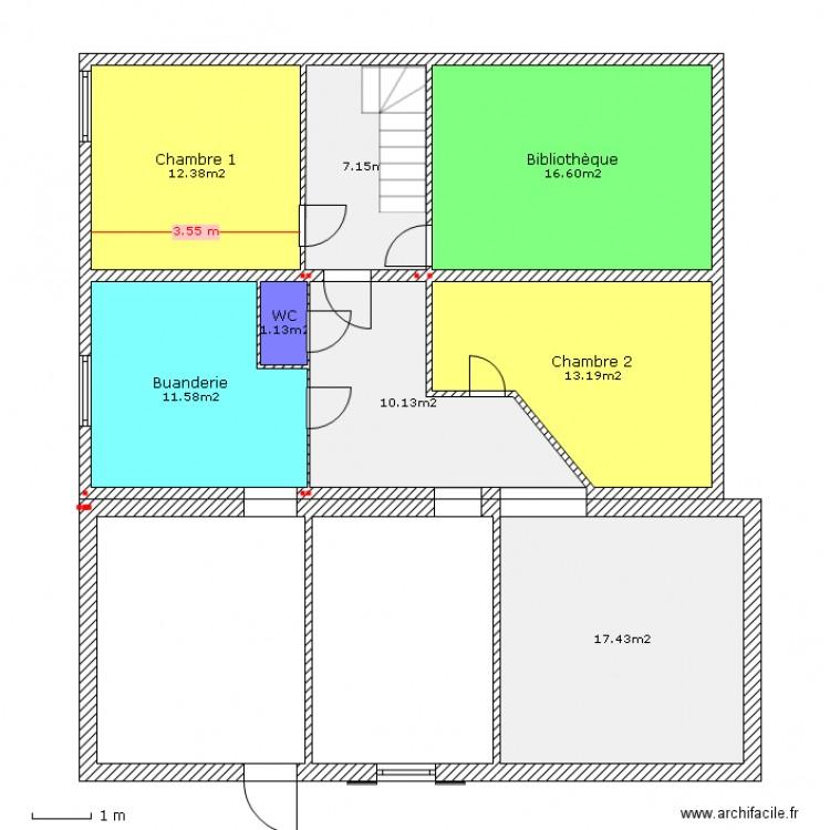 Plan sous sol am nagement plan 8 pi ces 90 m2 dessin par klumb - Plan amenagement sous sol ...