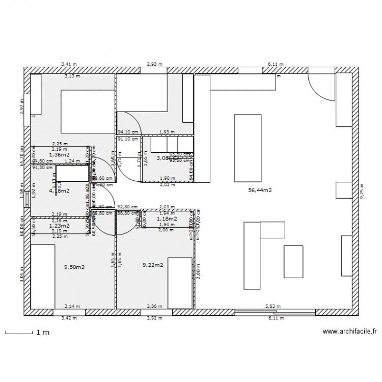 Maison 100m2 plan stunning maison 100m2 plan with maison for Plan maison container 100m2