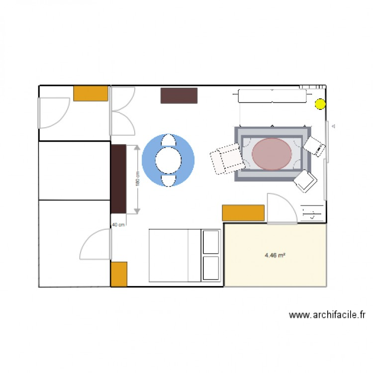 appart plan 1 pi ce 4 m2 dessin par vick89. Black Bedroom Furniture Sets. Home Design Ideas