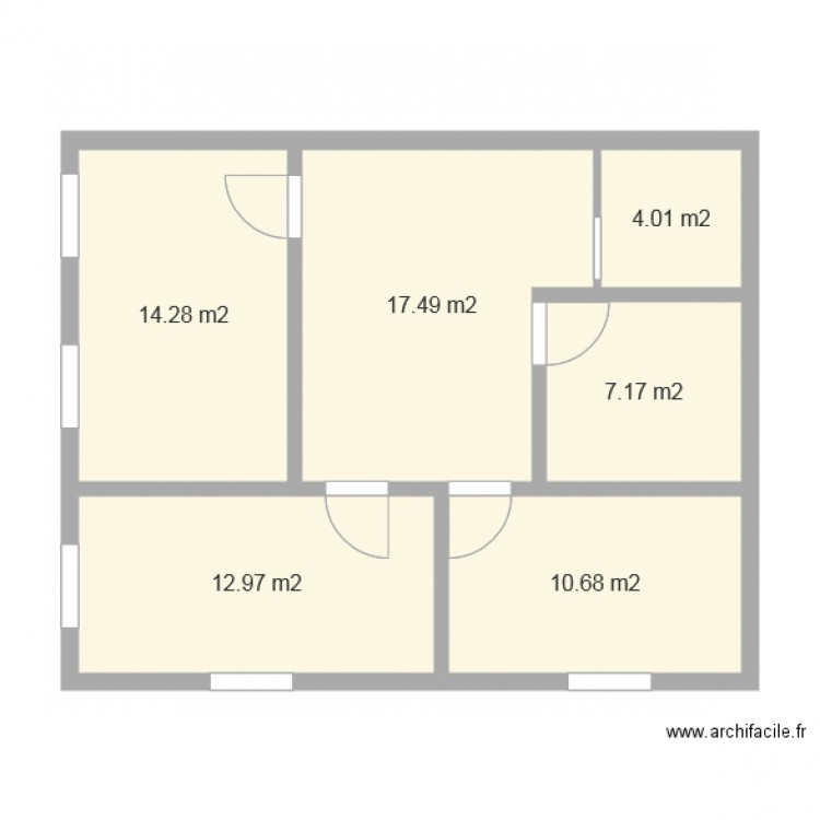 2 etage maison 80m2 modifi 2 plan 6 pi ces 67 m2 dessin. Black Bedroom Furniture Sets. Home Design Ideas