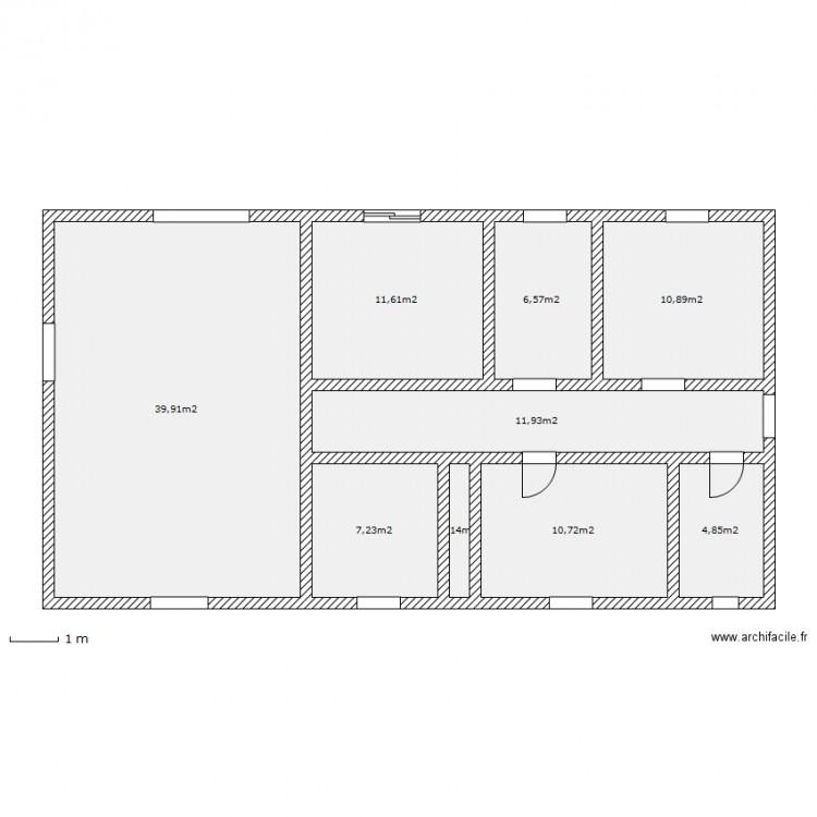 Maison plein pied plan 9 pi ces 105 m2 dessin par ktv for 105 plan