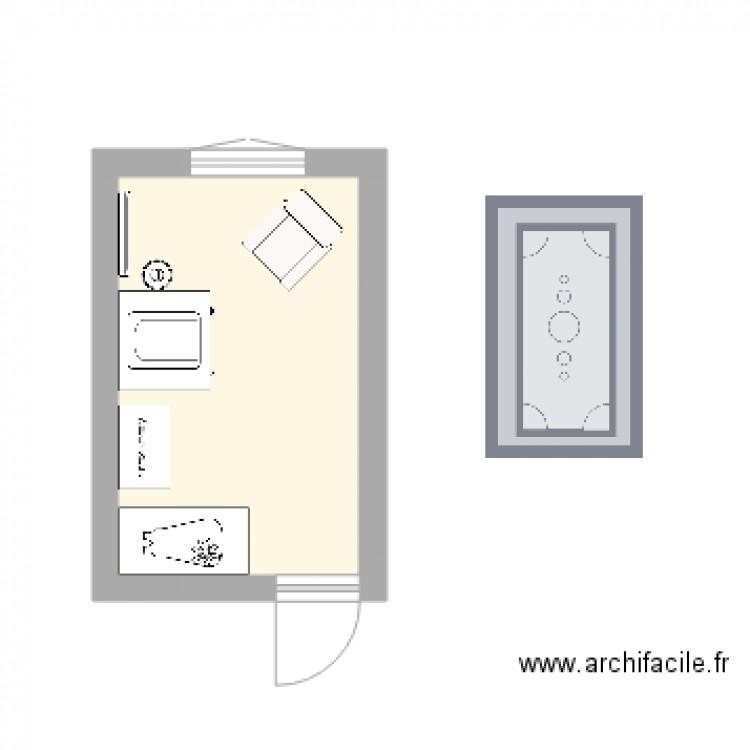 Chambre Bebe Plan 1 Piece 9 M2 Dessine Par Begou