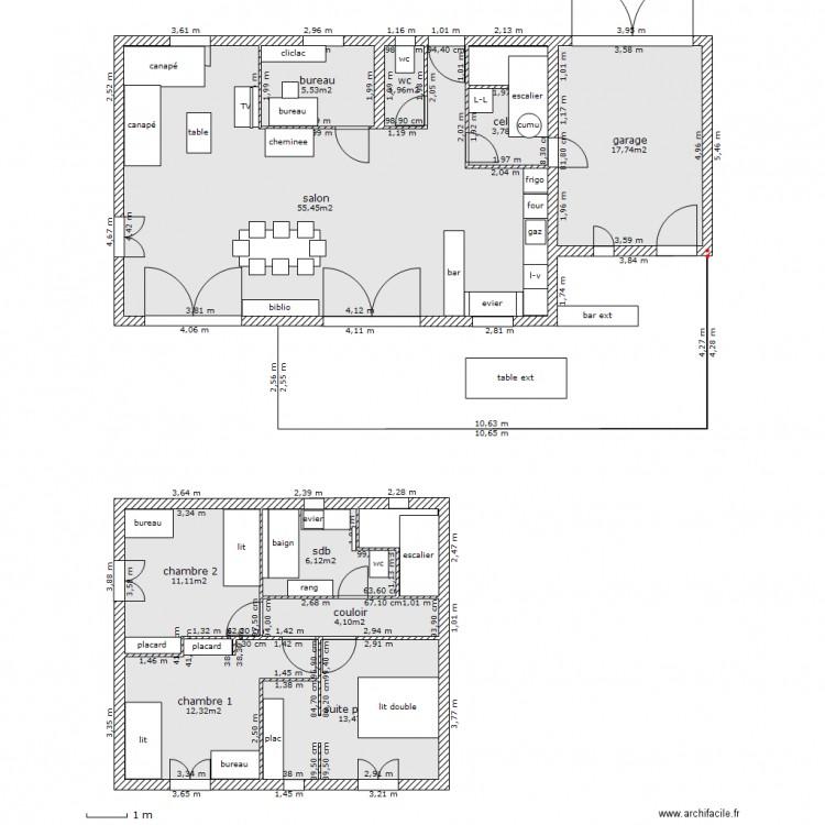 Maison beaucaire bastide 2 plan 12 pi ces 137 m2 dessin for Constructeur bastide