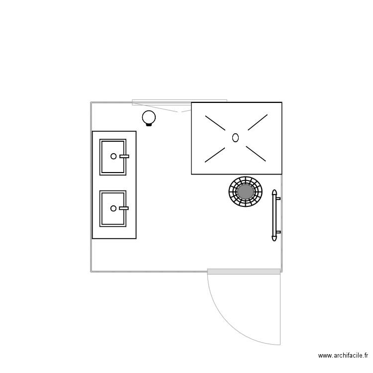 Salle de bain plan 1 pi ce 4 m2 dessin par johndo39 for Salle de bain 4 m2