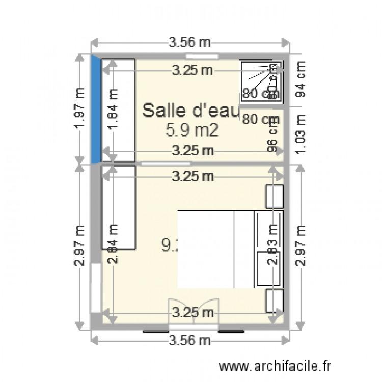 Chambre parentale plan 2 pi ces 15 m2 dessin par eric5993 for Plan chambre parentale