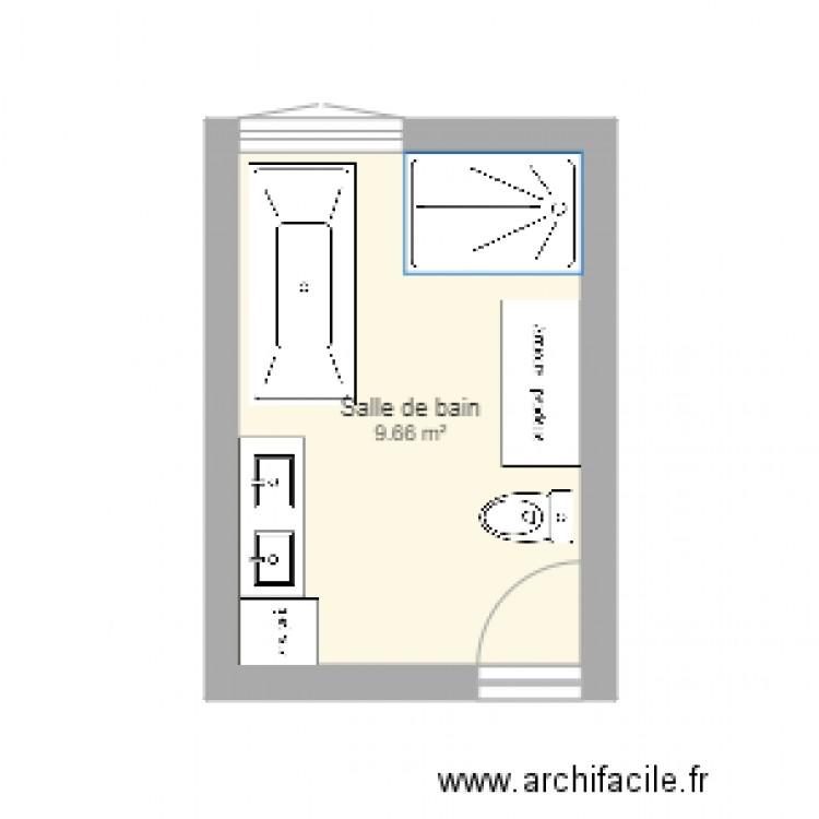 Salle De Bain 1 Plan 1 Pi Ce 10 M2 Dessin Par Marcil