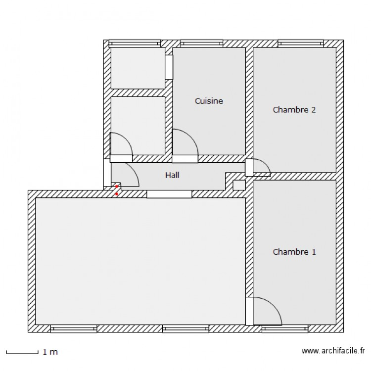 appartement t3 eaux claires plan 8 pi ces 66 m2 dessin. Black Bedroom Furniture Sets. Home Design Ideas
