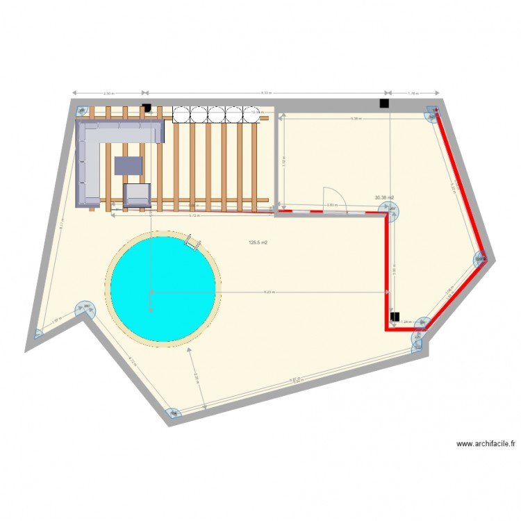 amenagement 2 plan 2 pi ces 156 m2 dessin par cupitimaxime. Black Bedroom Furniture Sets. Home Design Ideas