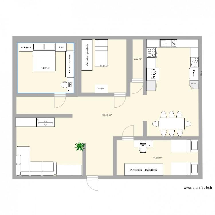 Ma maison plan 5 pi ces 146 m2 dessin par gabrielesteban for Dessine ma maison gratuitement