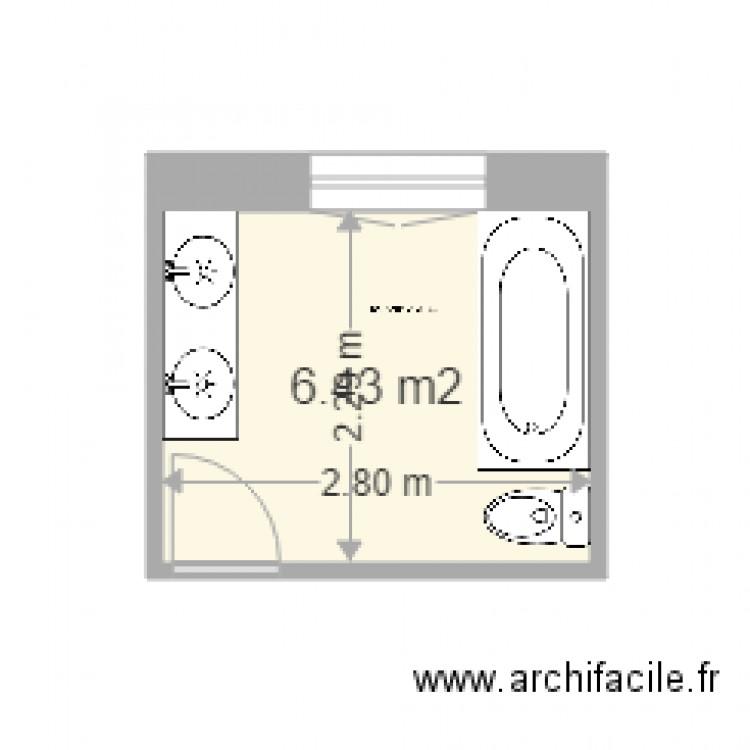 Salle De Bain Plan 1 Pi Ce 6 M2 Dessin Par Jack Pj