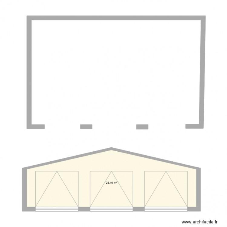 garage plan 1 pi ce 25 m2 dessin par eyderots. Black Bedroom Furniture Sets. Home Design Ideas