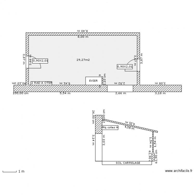 VERANDA - Plan 1 pièce 29 m2 dessiné par ZOREILLE