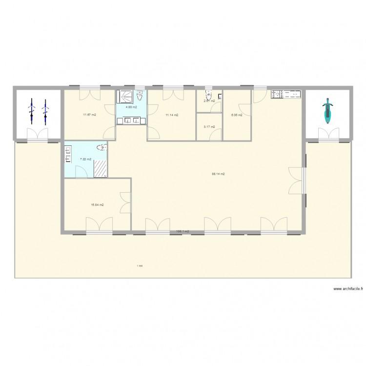 La case bambou maison style créole PC - Plan 10 pièces 257 m2 dessiné par theobordeaux