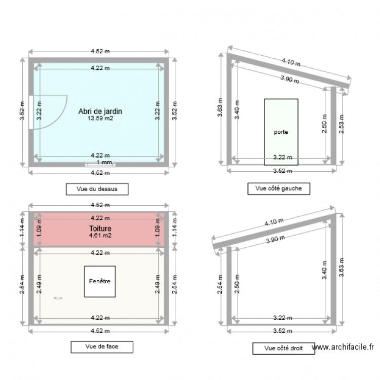 Abri de Jardin Sol nine - Plan 3 pièces 29 m2 dessiné par ...