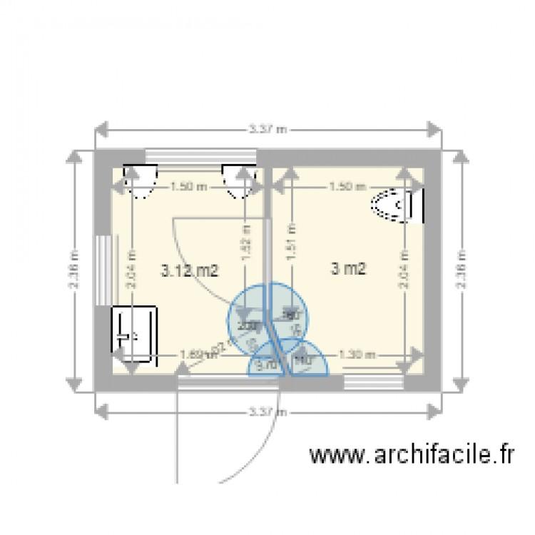 Toilettes publiques 26 0416 cloison int rieure avec porte for Taille porte interieure