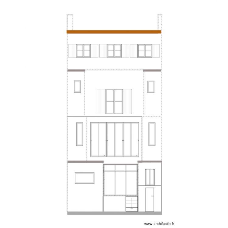 plan fa ade pour dp4 plan 7 pi ces 60 m2 dessin par nbourgoint. Black Bedroom Furniture Sets. Home Design Ideas