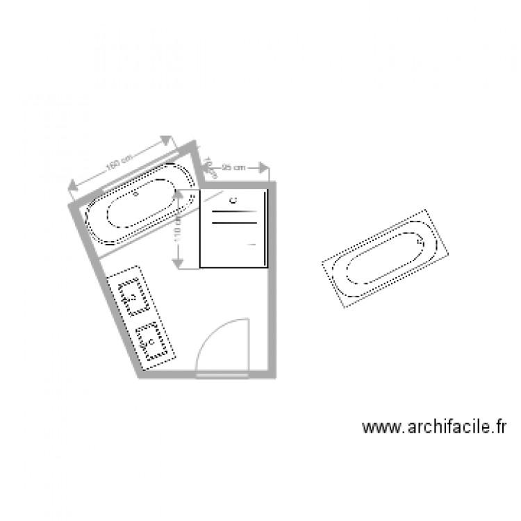 salle de bain fabrice plan 1 pi ce 6 m2 dessin par gonzch. Black Bedroom Furniture Sets. Home Design Ideas