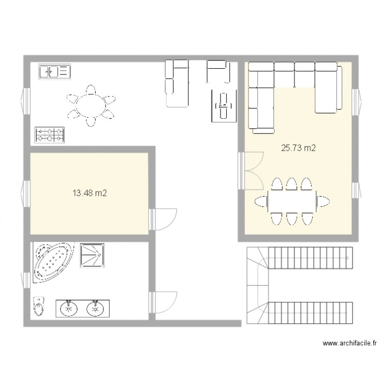 plan maison 2 pieces