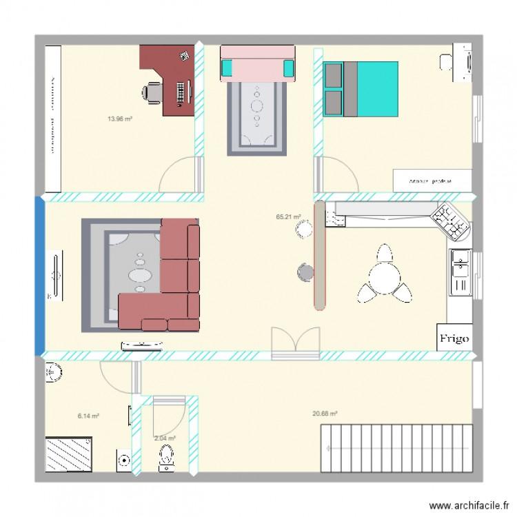 Samir maison plan 5 pi ces 108 m2 dessin par samirsam - Consommation electrique moyenne maison 140 m2 ...