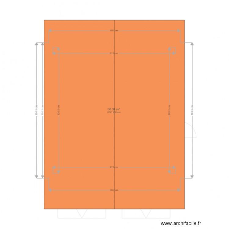 garage 2 porte plan 2 pi ces 77 m2 dessin par pentrella. Black Bedroom Furniture Sets. Home Design Ideas