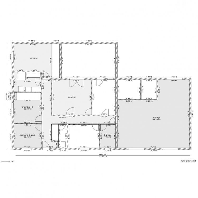 Merveilleux Maison 4 Piece Avec Superficie . Plan De 8 Pièces Et 165 M2