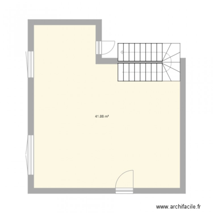 maison vide plan 1 pi ce 42 m2 dessin par sandy93160. Black Bedroom Furniture Sets. Home Design Ideas