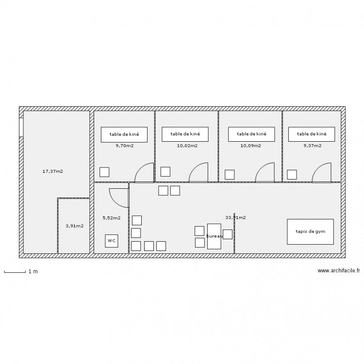 plan appartement kiné