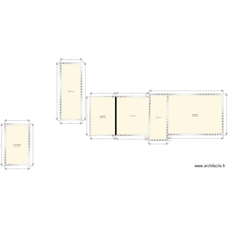 Plan De Masse Avec Construction Plan 6 Pieces 258 M2