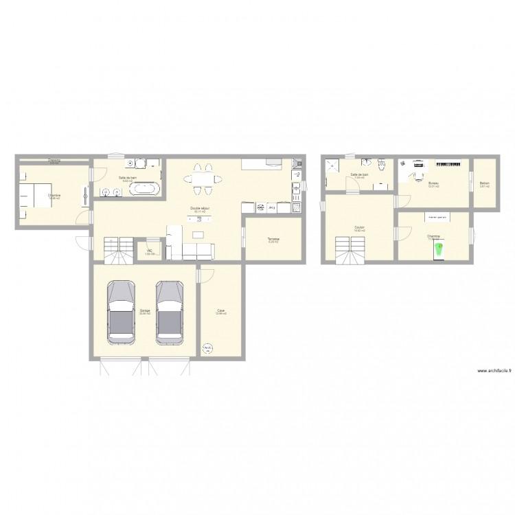 Ma maison plan 13 pi ces 181 m2 dessin par titih25 for Dessine ma maison gratuitement