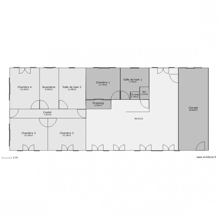 maison ph nix mod le val de loire christian 2 plan 13 pi ces 176 m2 dessin par chris85220. Black Bedroom Furniture Sets. Home Design Ideas