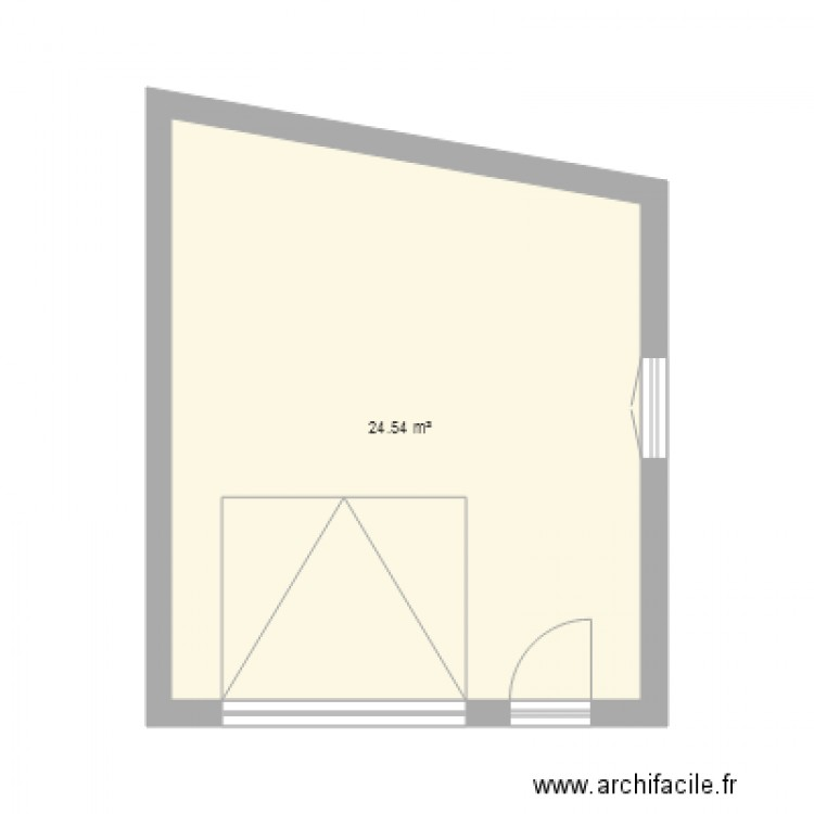 garage plan 1 pi ce 25 m2 dessin par adeline44310. Black Bedroom Furniture Sets. Home Design Ideas