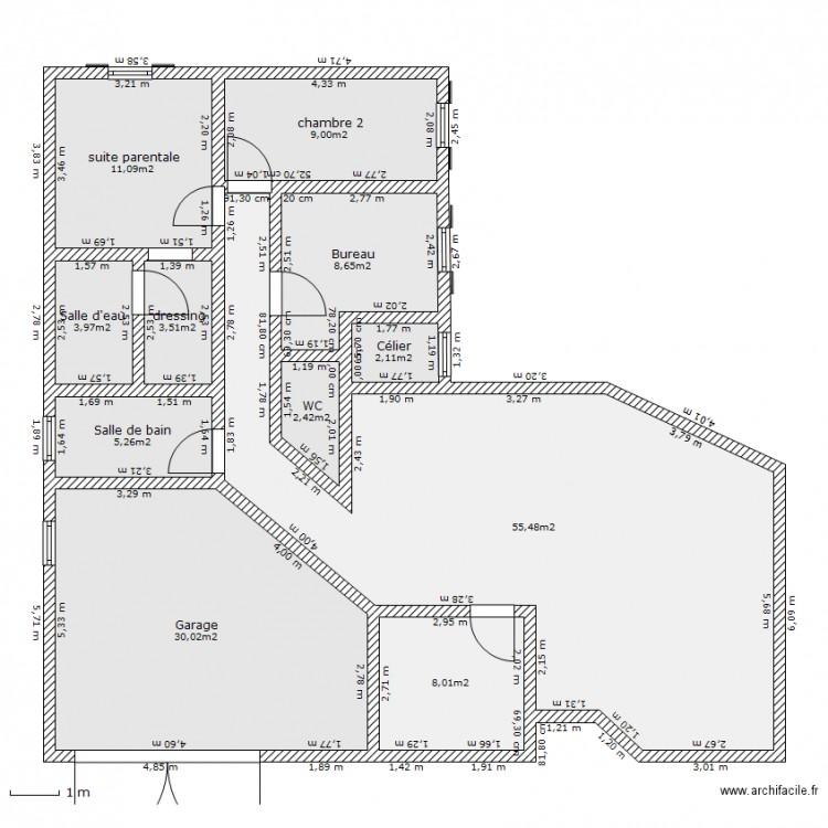 maison proposition plan 11 pi ces 140 m2 dessin par. Black Bedroom Furniture Sets. Home Design Ideas