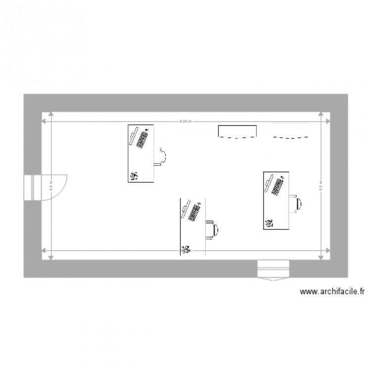Bureau plan 1 pi ce 41 m2 dessin par abruno for Nombre de m2 par personne bureau