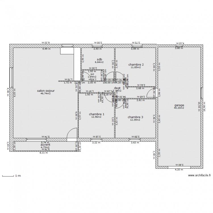 maison garage a droite modif plan 9 pi ces 144 m2 ForPlan Maison Garage A Droite