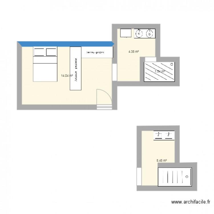 Chambre nuptiale plan 4 pi ces 25 m2 dessin par nihylia for Chambre nuptiale