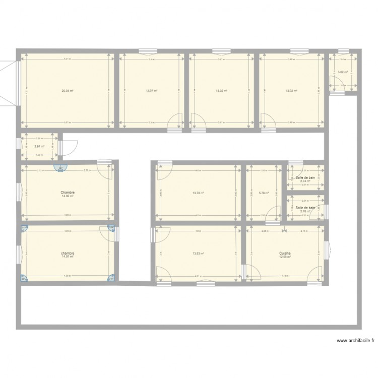 maison guin e 2 plan 14 pi ces 149 m2 dessin par drey1982. Black Bedroom Furniture Sets. Home Design Ideas