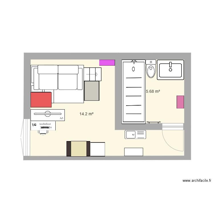 plan appartement studio