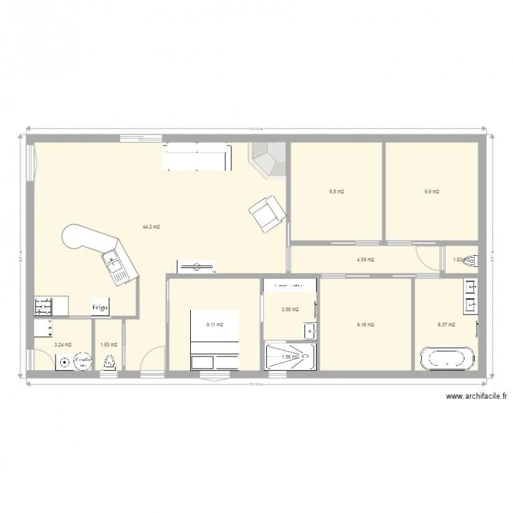 Ma maison plan 12 pi ces 104 m2 dessin par joan310580 for Dessine ma maison gratuitement