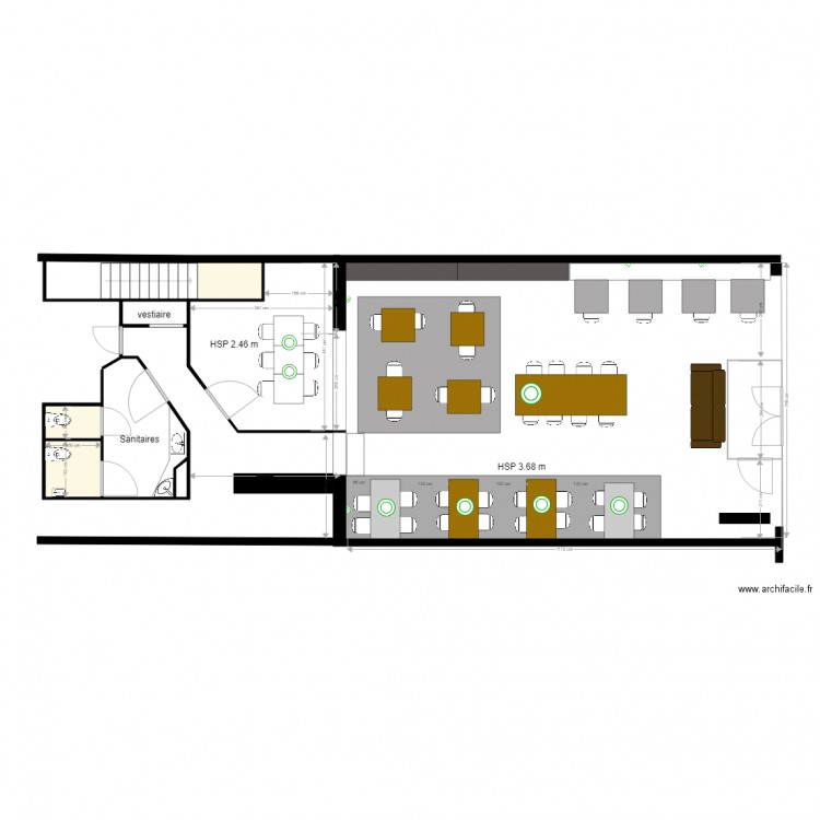 resto libourne plan 3 pi ces 5 m2 dessin par poiqsd. Black Bedroom Furniture Sets. Home Design Ideas