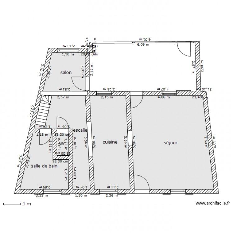 Maison rdc avec veranda plan 6 pi ces 59 m2 dessin par grobaf - Veranda plan de campagne ...